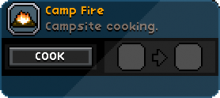 A Campfire cooking Window